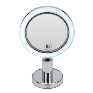 Espejo Aumento Sobremesa Luz X5 hogarami
