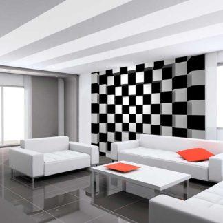 Fotomural 00968 Black and White Squares hogarami